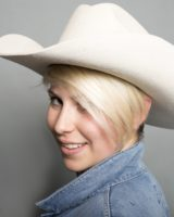 cappello western lana PANNA