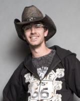cappello western uomo paglia NERO