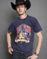 t. shirt M/M stampata CHITARRA BLU