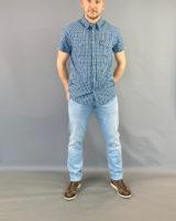 Camicia m/m quadretti blu Wrangler