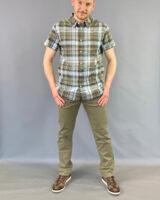 Camicia m/m quadri verde Wrangler