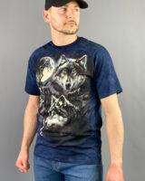 T-shirt m/m uomo stampa lupi