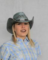 cappello western donna paglia AZZURRO