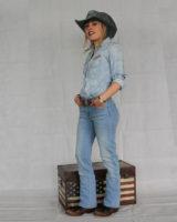 Jeans BOOTCUT elasticizzato AZZURRO