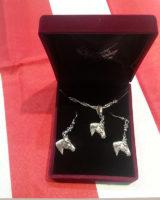 Set collana e orecchini cavallo